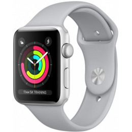 Silver Aluminum Case with Fog Sport Band 38mm